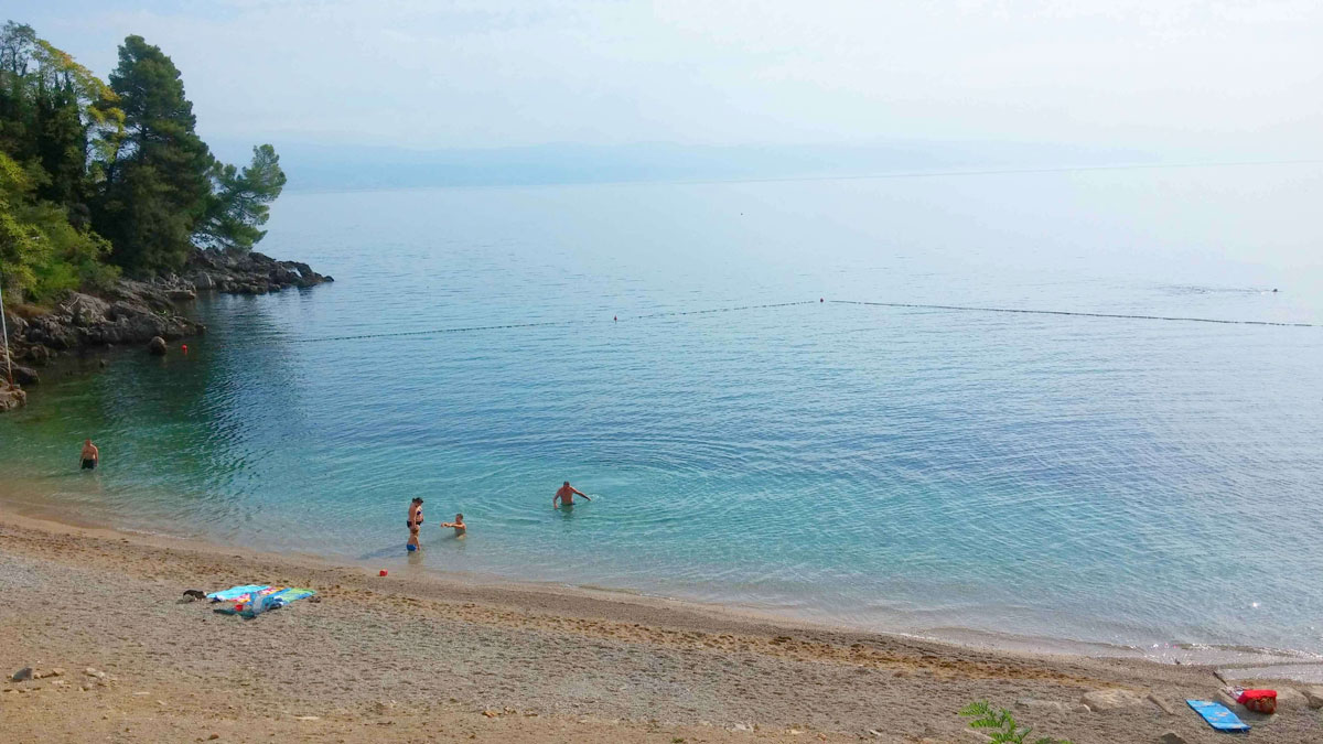 Lovran beach view Villa San Giuseppe Lovran holiday apartments near sea