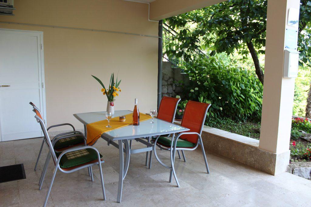 Apartments Basan Lovran-Opatija, apartment 2+2 terrace with garden