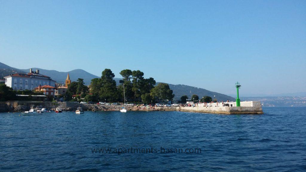 Beautiful Lovran port near Opatija