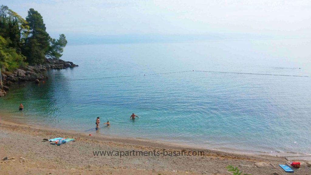 beautiful Lovran beach on Croatian coast