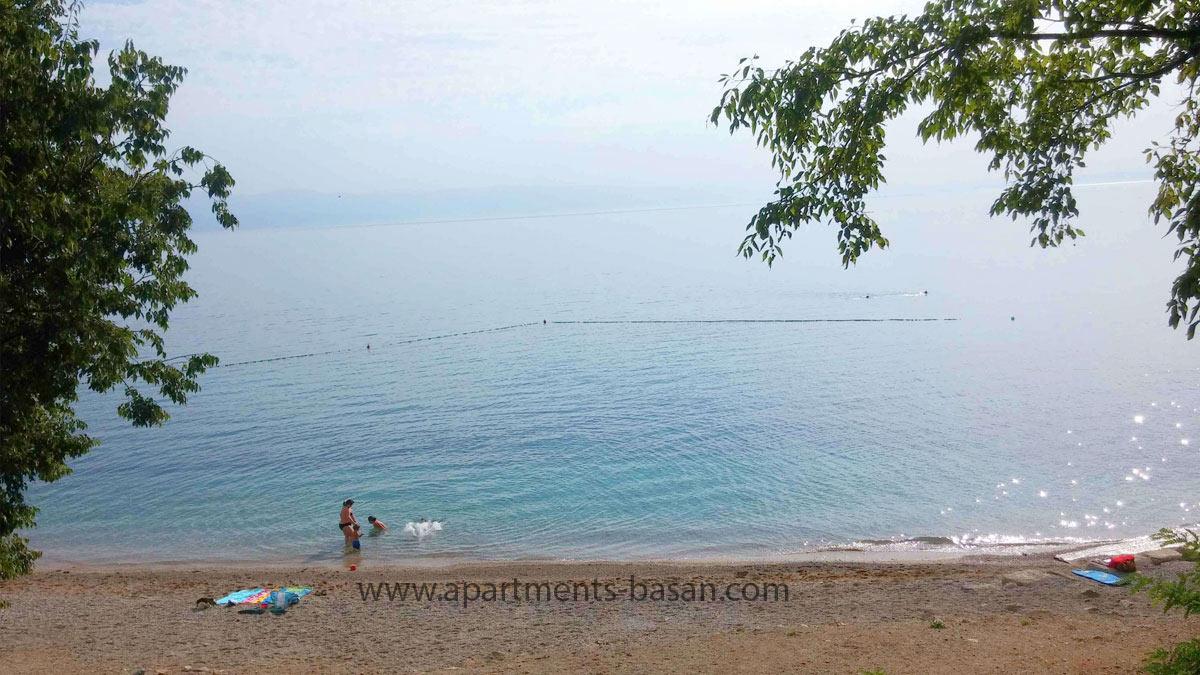 nice Lovran beach for summer holiday in Croatia