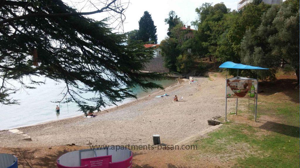 Peharovo beach in Lovran, Croatia