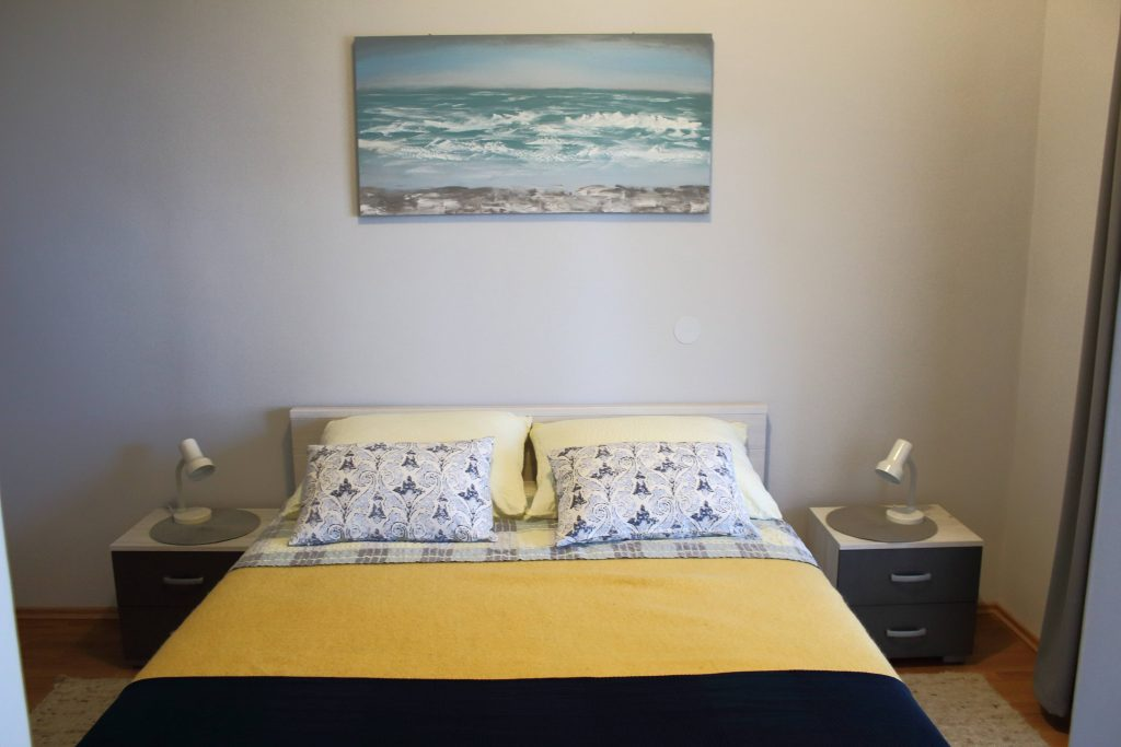 Bedroom with sea view in Apartments Basan Lovran-Opatija Croatia