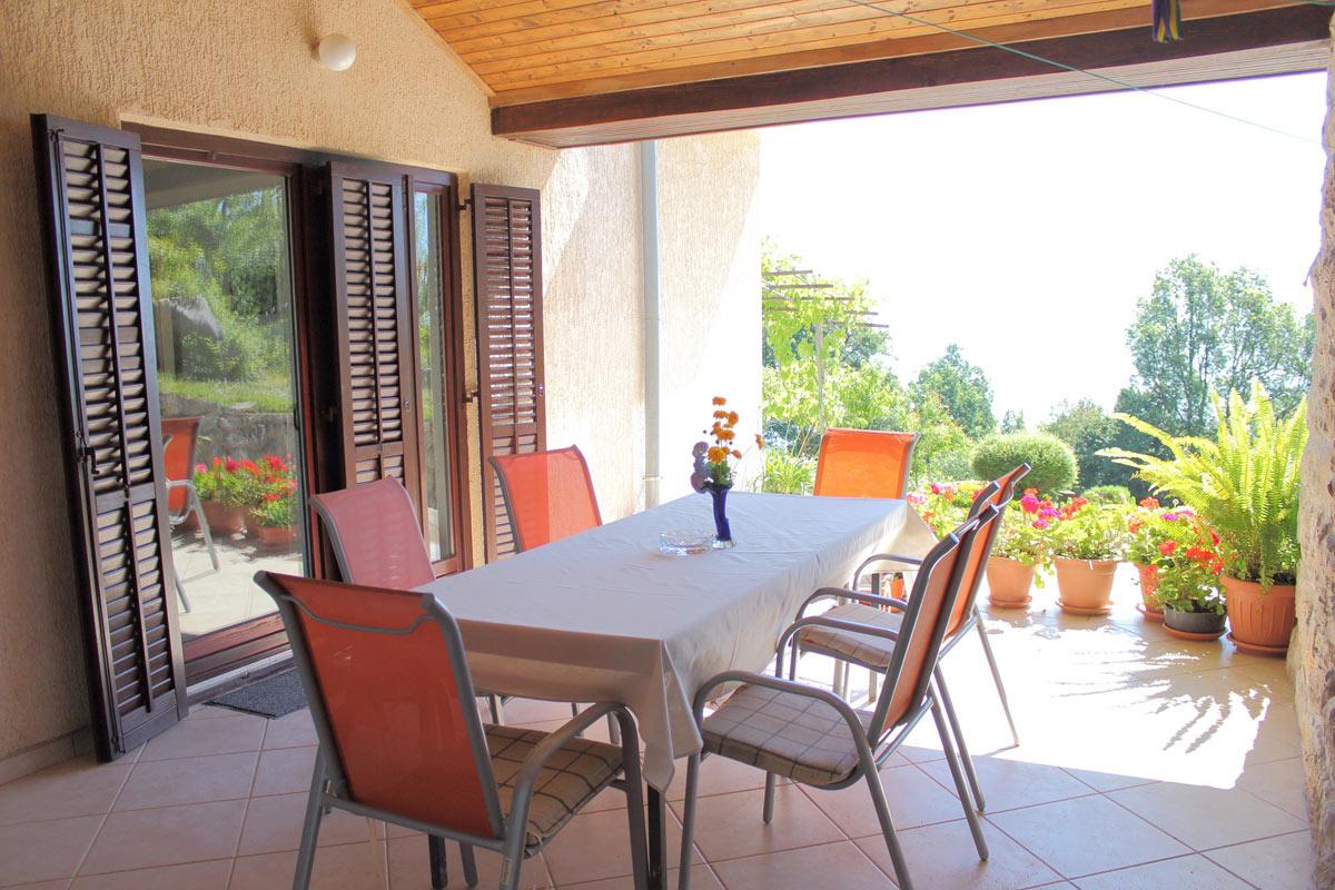 Big sea view terrace in apartment for rent Opatija Croatia