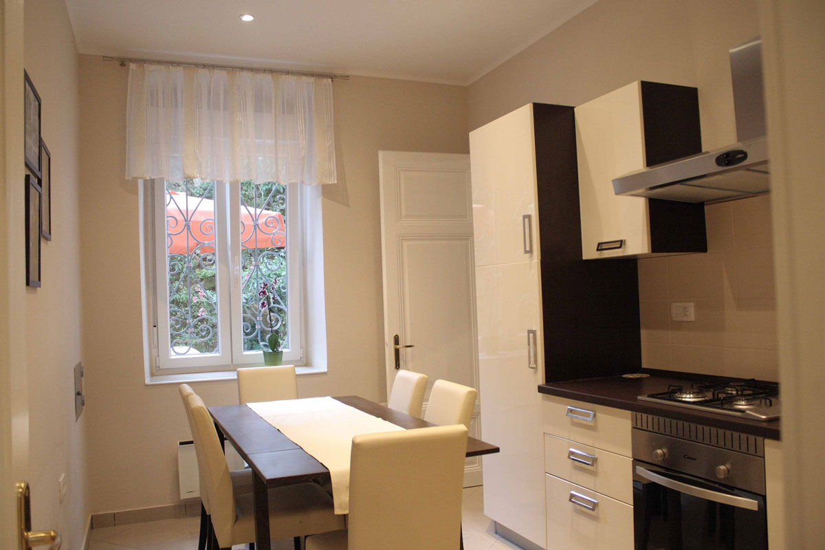 Big kitchen with terrace in Villa San Giuseppe Lovran, apartment 3+2