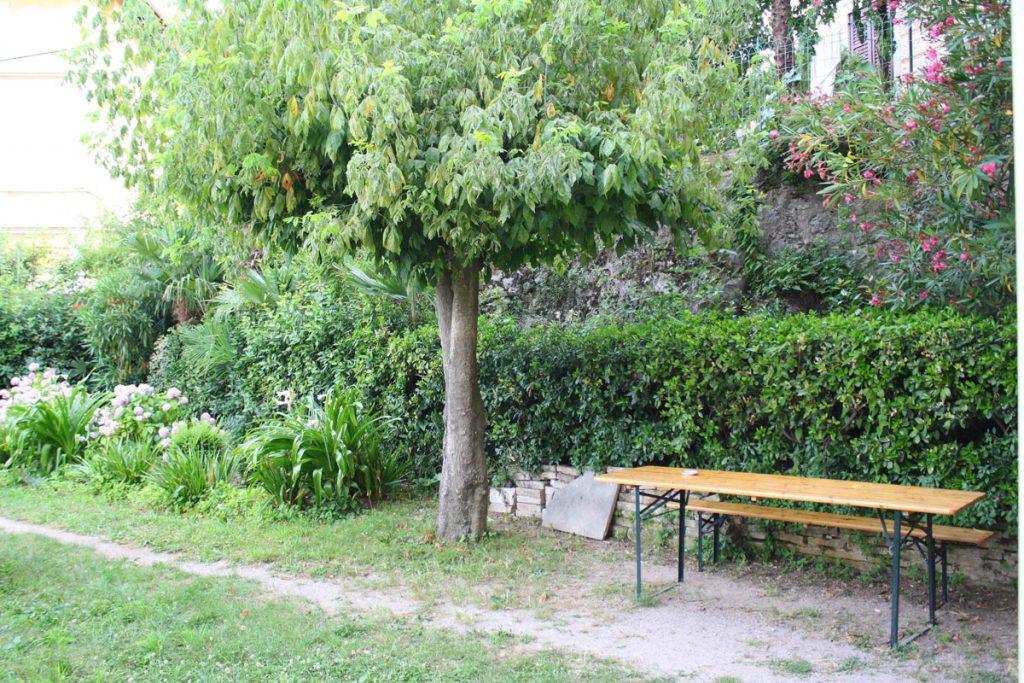 studio apartment near Lovran beach with garden terrace