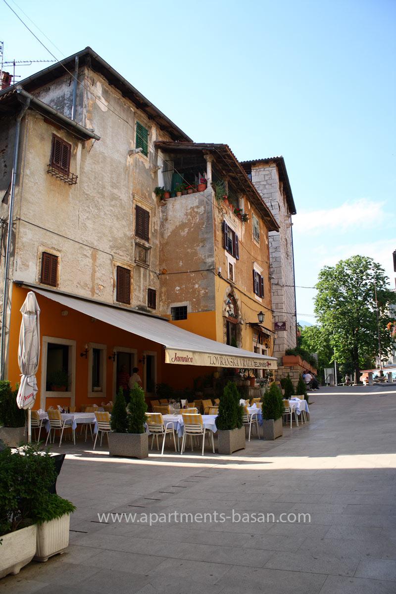Lovran old town, most beautiful town in Croatia