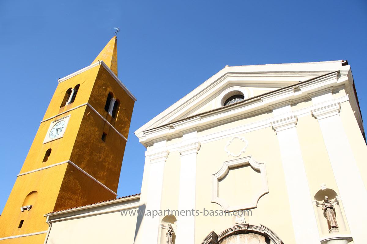 Lovran church, Opatija riviera